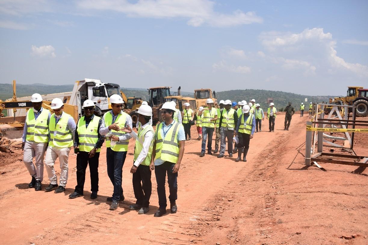 Team with Heaf of Civil Engineering
