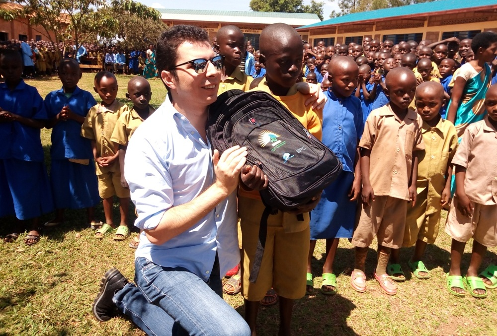 CEO donate materials to one of the pupils